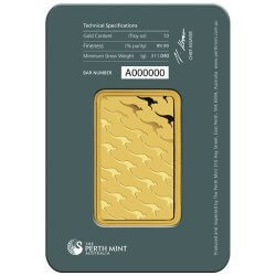 10 oz Perth Mint Gold Bar Reverse