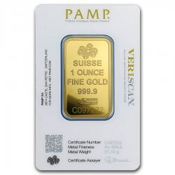 1 oz PAMP Suisse Gold Bar Fortuna Reverse