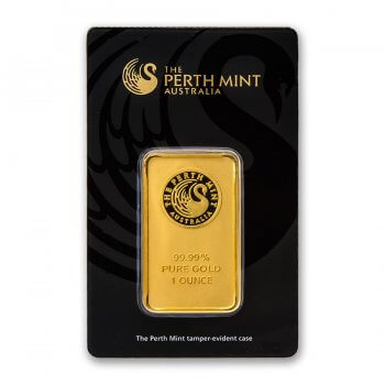 1 oz Perth Mint Gold Bar Obverse