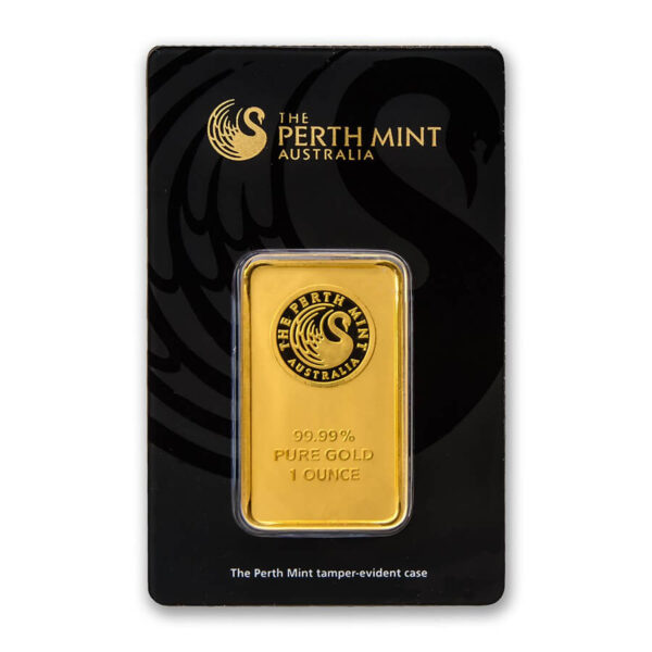 1 oz Perth Mint Gold Bar Obverse