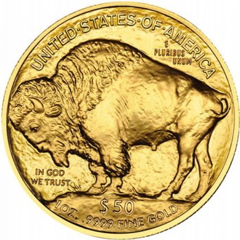 1 oz American Gold Buffalo Reverse