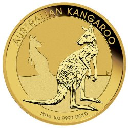 1 oz Australian Gold Kangaroo Reverse