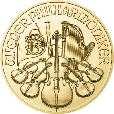 1 oz Austrian Gold Philharmonic Obverse