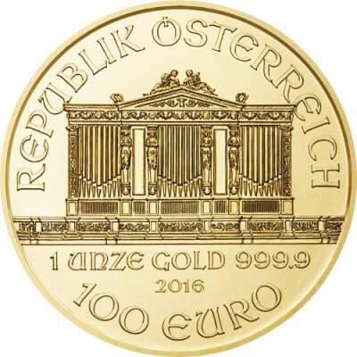 1 oz Austrian Gold Philharmonic Reverse