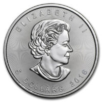 1 oz Canadian Silver Maple Obverse