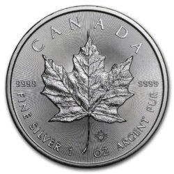 1 oz Canadian Silver Maple Reverse