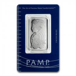 1 oz PAMP Suisse Platinum Bar Fortuna Obverse