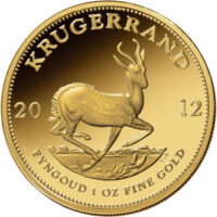 1 oz South African Gold Krugerrand Reverse