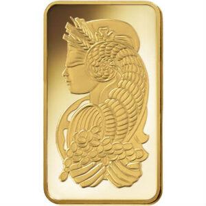10 oz PAMP Suisse Gold Bar Obverse