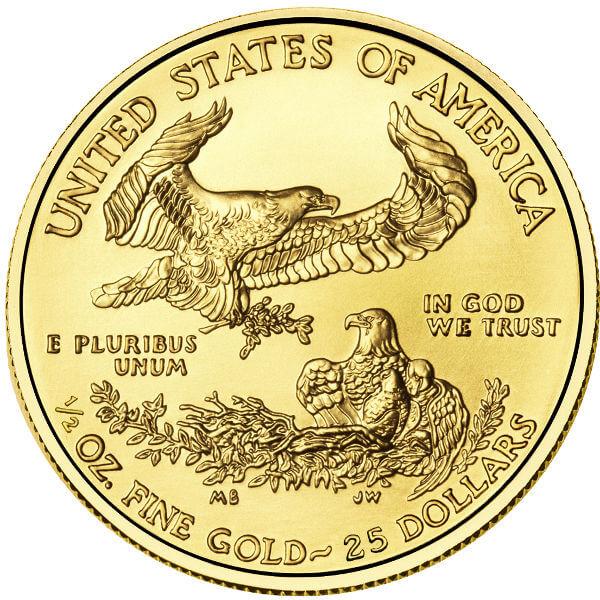 1/2 oz American Gold Eagle Reverse