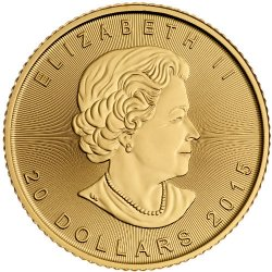 1/2 oz Canadian Gold Maple Leaf Obverse