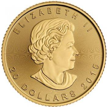 1/2 oz Canadian Gold Maple Leaf Obverse
