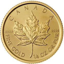 1/4 oz Canadian Maple Leaf Reverse