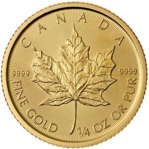 1/4 oz Canadian Maple Leaf Reverse