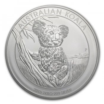 Australian Silver Kilo Koala Obverse