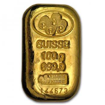 100 Gram PAMP Suisse Gold Bar