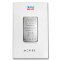 1 oz credit suisse palladium bar