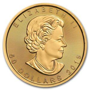 2019 1 oz Canadian Gold Maple Leaf Obverse