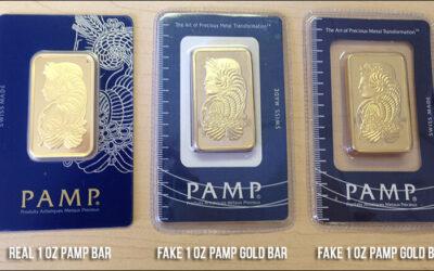 Fake PAMP Gold Bars