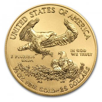 1/2 oz American Gold Eagle Reverse