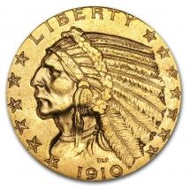 Inidan Head Gold Coin