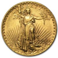 Saint Gaudens Gold Double Eagle Obverse