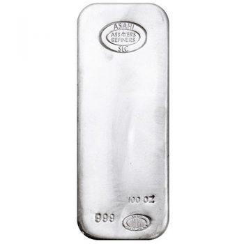 100 oz Asahi Refining Silver Bar