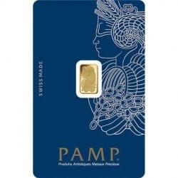 1 Gram PAMP Suisse Gold Bar Fortuna Obverse