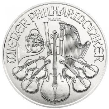 1 oz Austrian Platinum Philharmonic Obverse