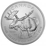2012 1 oz Canadian Silver Moose