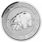 Canadian Silver Polar Bear and Cub