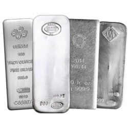 100 oz Silver Bar Varied Mint
