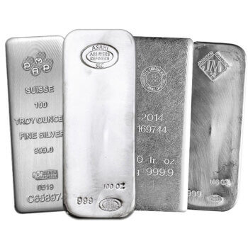 100 oz Silver Bar Varied Mint
